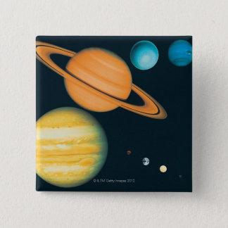 The Solar System 15 Cm Square Badge