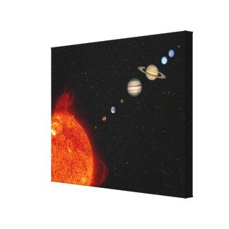 The Solar System 2 Canvas Print