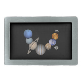 The solar system range our planets rectangular belt buckle