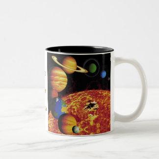The Solar System Two-Tone Coffee Mug