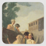 The Soldier and the Young Lady, 1778-79 Square Sticker