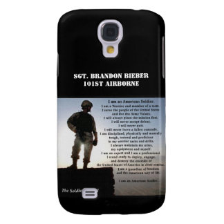 The Soldier's Creed Military Warrior Personalized Galaxy S4 Case