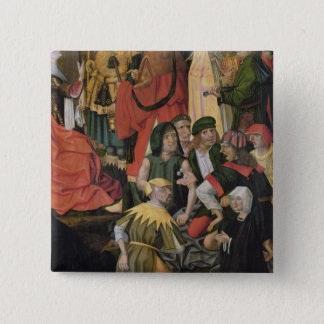 The Soldiers Drawing Lots for Christ's Clothes 15 Cm Square Badge