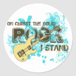 The Solid Rock Classic Round Sticker