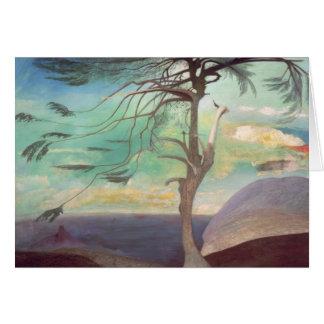 The Solitary Cedar, 1907 Card