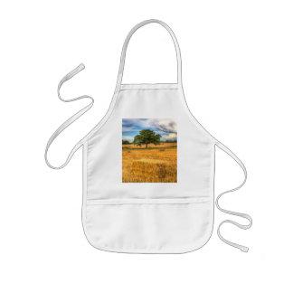 The solitary farm tree kids apron