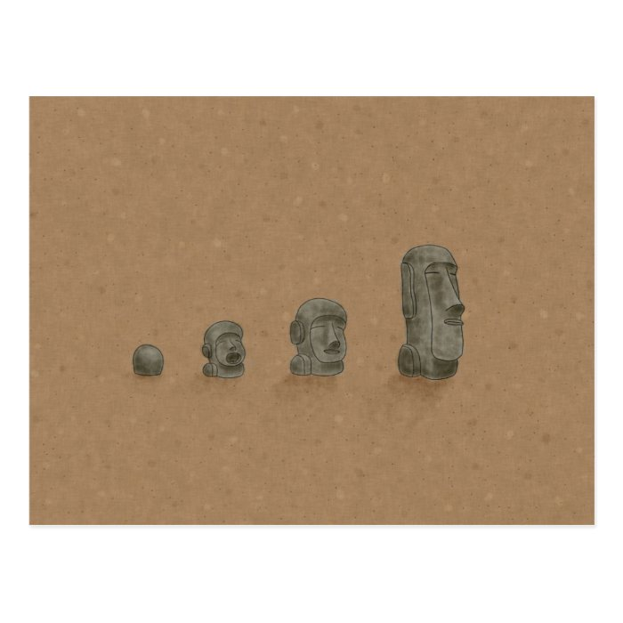 The Solved Mystery of Moai Statues Postcard
