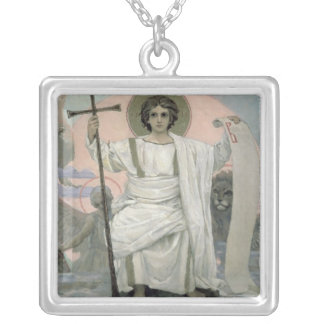 The Son of God - The Word of God, 1885-96 Silver Plated Necklace