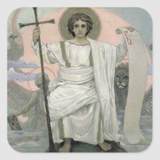 The Son of God - The Word of God 1885-96 Square Stickers