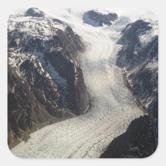 The Sondrestrom Glacier in Greenland Square Sticker
