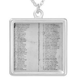 The Song of Roland' Silver Plated Necklace