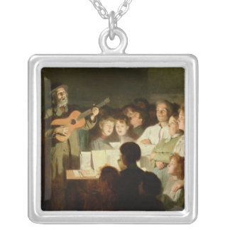The Song Seller, 1903 Silver Plated Necklace