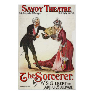 The Sorcerer Revival.~ Savoy Theatre London 1884 Poster