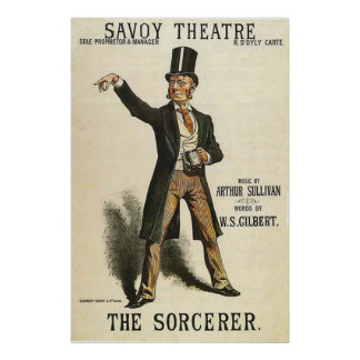The Sorcerer ~ Savoy Theatre London 1884 Poster