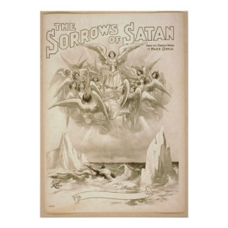 The Sorrows of Satan c1898 Vintage Poster
