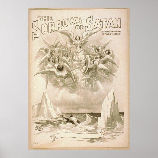 The Sorrows of Satan c1898 Vintage Print