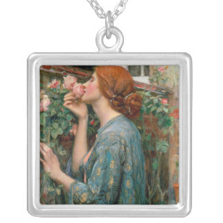 The Soul of the Rose, 1908 Silver Plated Necklace
