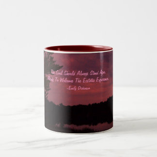 The Soul Should Always Stand Ajar,... Two-Tone Mug