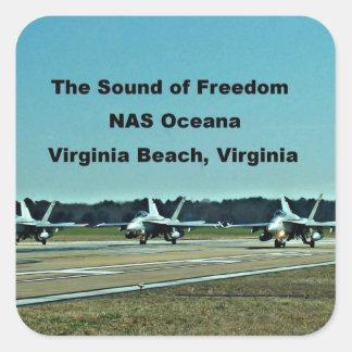 The Sound of Freedom, NAS Oceana Square Sticker