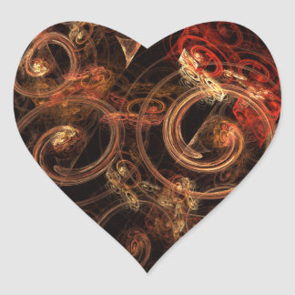 The Sound of Music Abstract Art Heart Sticker