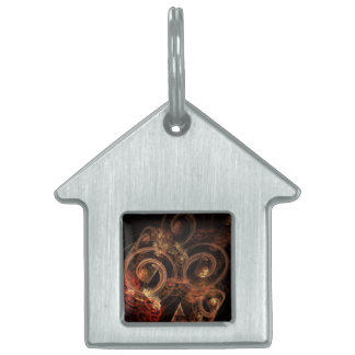 The Sound of Music Abstract Art House Pet Name Tags