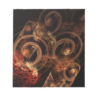 The Sound of Music Abstract Art Notepad