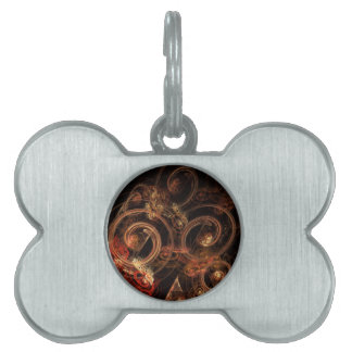 The Sound of Music Abstract Art Pet Name Tag