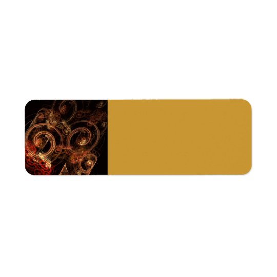 The Sound of Music Abstract Art Return Address Label