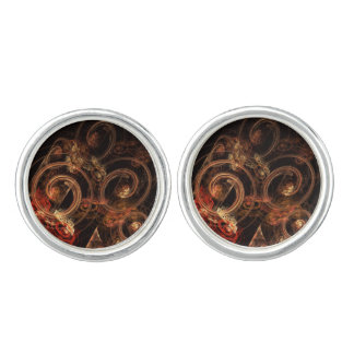 The Sound of Music Abstract Art Silver Plated Cuff Links