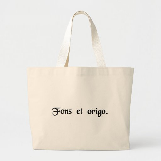 The source and origin. canvas bag