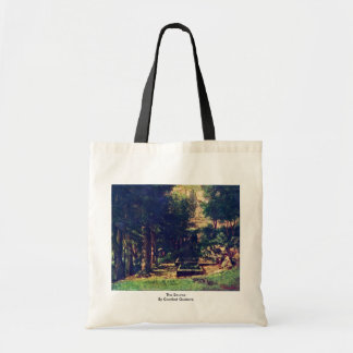 The Source By Courbet Gustave Canvas Bag