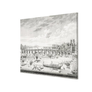 The South East Prospect of Westminster Bridge - Bo Canvas Print