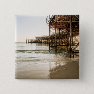 The South Parade Pier On The Coast At Southsea 15 Cm Square Badge