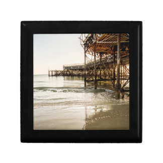 The South Parade Pier On The Coast At Southsea Small Square Gift Box