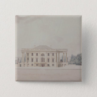 The South Portico of the President's House, 1807 15 Cm Square Badge