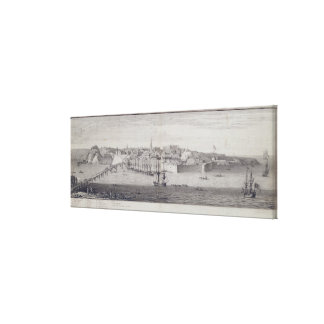The South View of Berwick Upon Tweed, c.1743-45 (p Canvas Print
