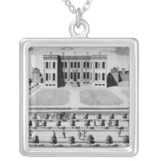The South-West Prospect of His Grace Silver Plated Necklace