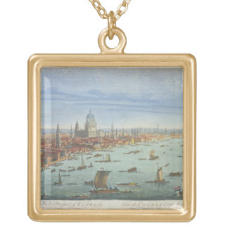 The South West Prospect of London, from Somerset G Gold Plated Necklace