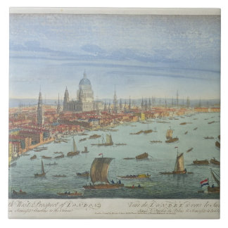 The South West Prospect of London, from Somerset G Large Square Tile