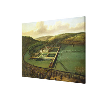 The Southeast Prospect of Hampton Court, Herefords Canvas Print