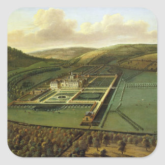 The Southeast Prospect of Hampton Court, Herefords Square Sticker