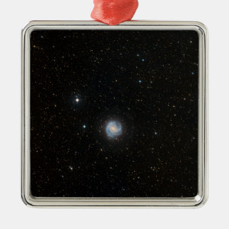 The Southern Pinwheel Galaxy 2 Silver-Colored Square Decoration