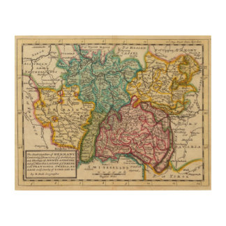 The southwest part of Germany Wood Canvas
