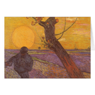 The Sower by Vincent van Gogh, Vintage Fine Art Card