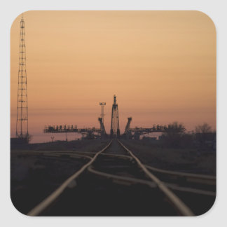 The Soyuz launch pad Square Sticker