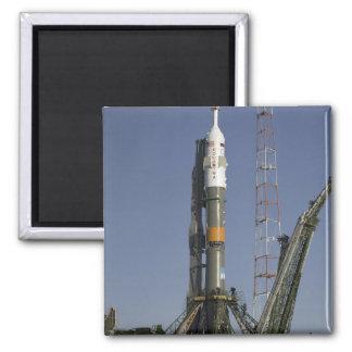The Soyuz rocket is erected into position 2 Magnet