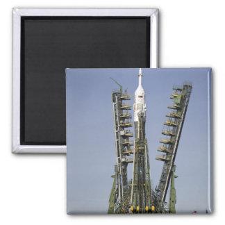 The Soyuz rocket is erected into position 4 Magnet