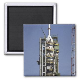 The Soyuz rocket is erected into position Magnet