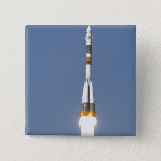 The Soyuz TMA-12 spacecraft 15 Cm Square Badge