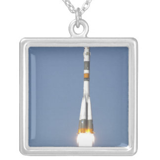 The Soyuz TMA-12 spacecraft Silver Plated Necklace